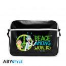 Großhandel Handtaschen: RICK AND MORTY - Messenger Bag Peace - Vinyl