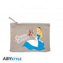Großhandel Taschen: DISNEY - Cosmetic Case - Alice curiouser - Grey