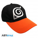 Großhandel Kopfbedeckung: NARUTO SHIPPUDEN - Cap Black Konoha Symbol *