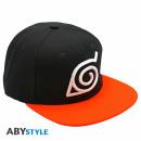Großhandel Kopfbedeckung: NARUTO SHIPPUDEN - Snapback Cap - Black & Orange -