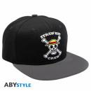 Großhandel Kopfbedeckung: ONE PIECE - Snapback Cap - Black & Grey - Skull