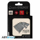 GAME OF THRONES - Set 4 Coasters Houses