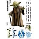wholesale Wall Tattoos: Star Wars - Stickers - scale 1 - YODA (blister)