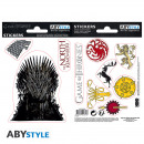 GAME OF THRONES - Stickers - 16x11cm / 2 planches