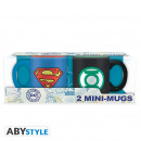 Großhandel Tassen & Becher: DC COMICS - Set 2 mini-mugs - 110 ml - Superman &