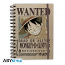 wholesale Notebooks & Tablets: ONE PIECE - Notebook Wanted Luffy X4