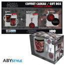 GAME OF THRONES - Package Mug + Keychain + Badges