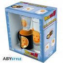 wholesale Drinking Glasses: DRAGON BALL - Package Glass 29cl + Shot Glass + We