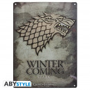 GAME OF THRONES - Metal plate Stark (28x38) With