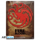GAME OF THRONES - Metal plate Targaryen (28x38)