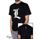 DEATH NOTE - Tshirt L tribute man SS black - bas
