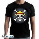 ONE PIECE - Tshirt Skull with map man SS black -