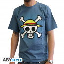 ONE PIECE - Tshirt Skull with map man SS stone b
