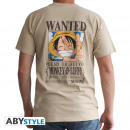 ONE PIECE - Tshirt Wanted Luffy man SS sand - ba