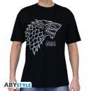 GAME OF THRONES - Tshirt Stark man SS black - ba