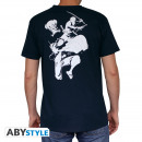 ONE PIECE - Tshirt 3 Heros New World man MC navy