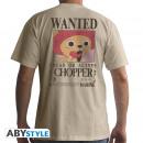 ONE PIECE - Tshirt Wanted Chopper man SS sand -