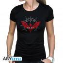 STRAY DOG - Tshirt BIRD emblem woman SS black -
