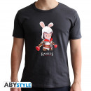 Großhandel Shirts & Tops: RAVING RABBIDS - Tshirt Spoof Creed man SS dark