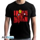 MARVEL - Tshirt Iron Man Graphic man SS black -