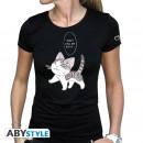 CHI - Tshirt Kitty woman SS black - basic