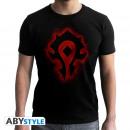WORLD OF WARCRAFT - Tshirt Horde - man SS black -