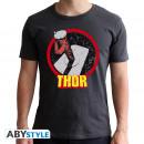 MARVEL - Tshirt Thor man SS dark grey - new fit