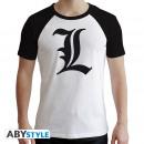 Großhandel Shirts & Tops: DEATH NOTE - Tshirt L Symbol man SS white - prem