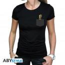 Großhandel Shirts & Tops: MARVEL - Tshirt Pocket Groot woman SS black - ba