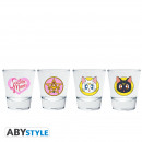 wholesale Drinking Glasses: SAILOR MOON - Shot Glass Emblem x2