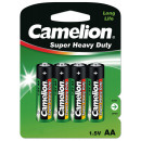 4x R6 / Mignon, batterie Super Heavy Duty (zinc-Ko
