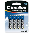 4x R6 / Mignon, Battery Super Heavy Duty (Zinc Co