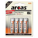 4x LR6 / AA / AA / 1.5V batería alcalina de Digi