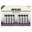 8x LR6 / AA / AA / 1.5V (4 + 4), alkali batterij