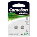 2x AG 7 / LR57 / LR926 / 395, button cell Alkaline