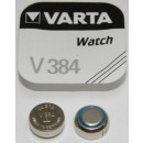 V 384 (Typical capacity: 38mAh), button cell