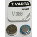 V 386 (capacidad típica: 105mAh), pilas de botón