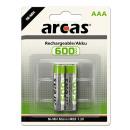 2x HR03 / Micro / 600mAh / 1.2V, battery Ni-MH