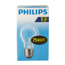Bulb / bulb shape / E27 / 75W / clear