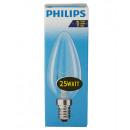 Bulb / kaarsvorm / E14 / 25W / Clear