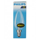 Light bulb / candle shape / E14 / 40W / clear