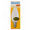 Incandescent / candle shape / E14 / 40W / matt
