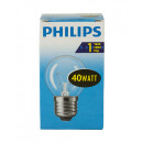 Light bulb / drop shape / E27 / 40W / clear