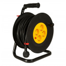 Cable drum 25 meters / with 4-way distributor / Si