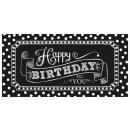 Giant Party Sign születésnapi kiegészítők - fekete