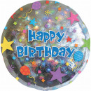 Standard Happy Birthday confetti Foil balloon verp