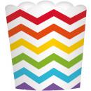 24 Dessertbecher Paper Minis regenbogenfarben 7,3