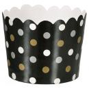 36 tasses à dessert Paper Minis noir 6.1 x 6.1 x 4