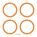 5 db címke narancssárga 5,1 cm
