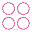 5 lapos címke rózsaszín 5.1 cm